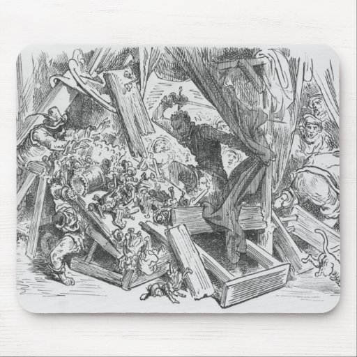 Don Quixote fighting the puppets Mousepads