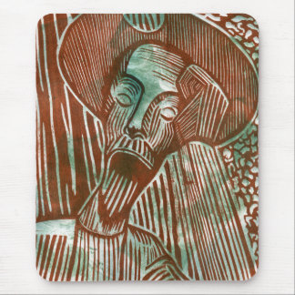 Don Quixote in Green and Brown Mouse Pad