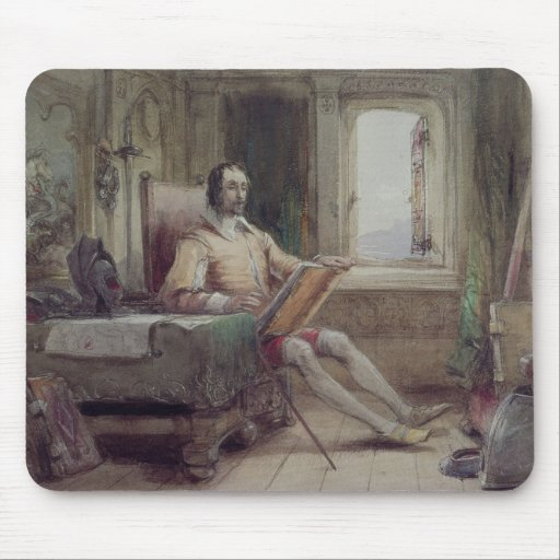 Don Quixote in his Study Mouse Pad