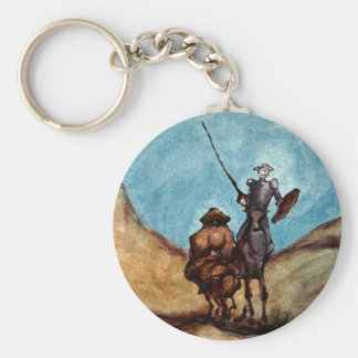 Don Quixote Basic Round Button Keychain