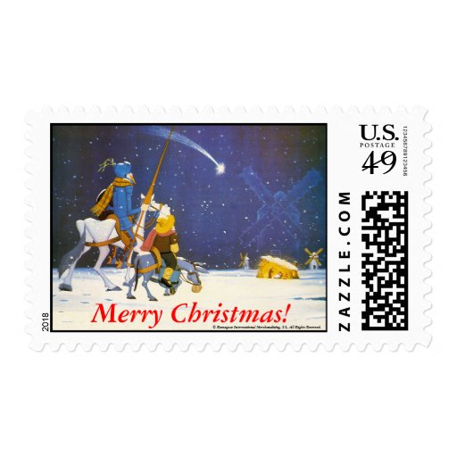 DON QUIXOTE - Merry Christmas!, Stamp - Sellos