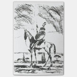 Don Quixote Post-It Notes