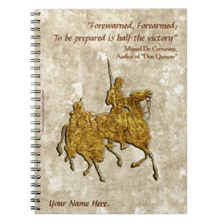 Don Quixote Quote and Illustration - Personalized Spiral Notebook