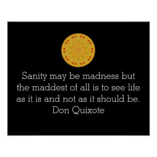Don Quixote quote Inspirational Poster