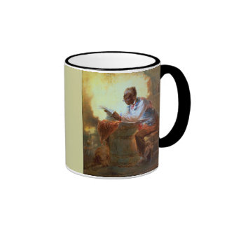 Don Quixote Reading Ringer Mug