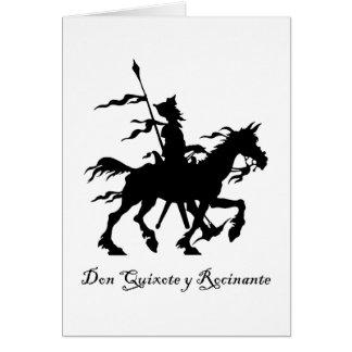 Don Quixote Rides Again Greeting Card