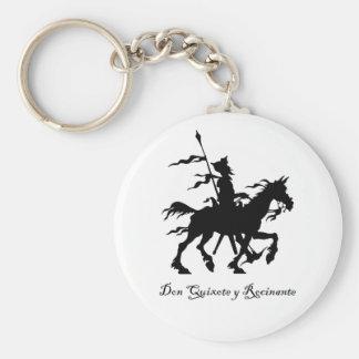 Don Quixote Rides Again Basic Round Button Keychain