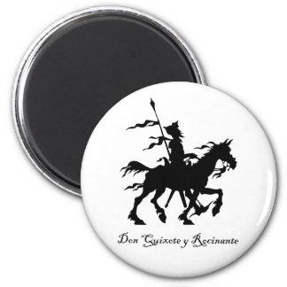 Don Quixote Rides Again 2 Inch Round Magnet