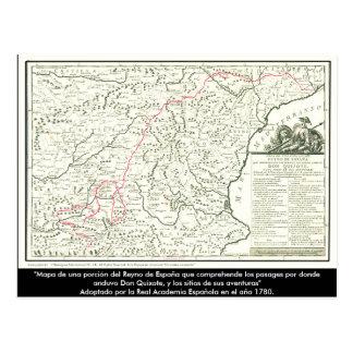 Don Quixote route Map - Cervantes Post Card