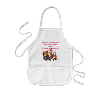 "DON QUIXOTE & SANCHO - ""Come poco... delantal Kids' Apron"
