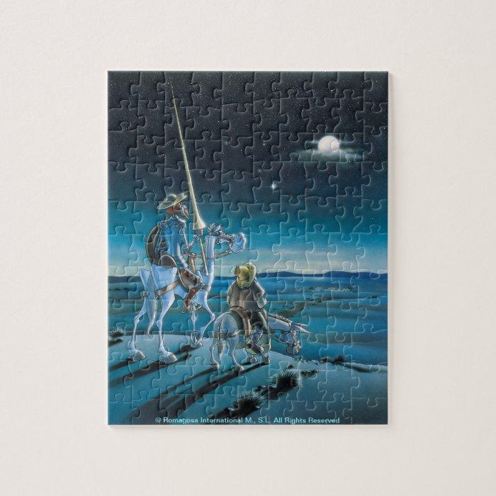 Don Quixote & Sancho - Jigsaw Cartoon Jigsaw Puzzle