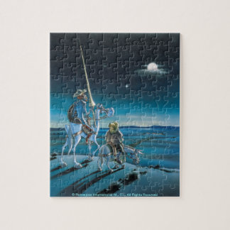 Don Quixote & Sancho - Jigsaw Cartoon Jigsaw Puzzles