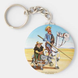DON QUIXOTE & SANCHO KEYCHAIN- IVth. Centenary Basic Round Button Keychain