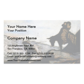 Don Quixote Sancho Panza by Honore Daumier Business Card Template