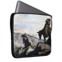Don Quixote,Sancho Panza by Honore Daumier Laptop Sleeve