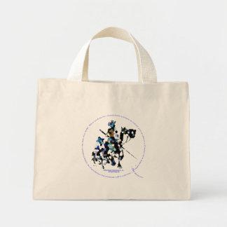 DON QUIXOTE & SANCHO - Small Tote Bag bolsa tela