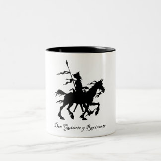 Don Quixote y Rocinante Two-Tone Coffee Mug