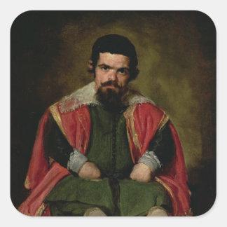 Don Sebastian de Morra, c.1643-44 Square Sticker