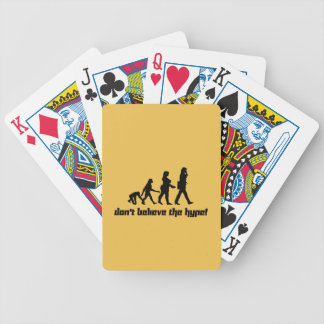 Don't believe the hype! 3 bicycle playing cards