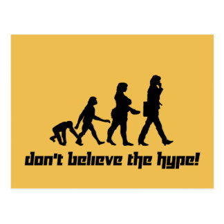 Don't believe the hype! 3 postcard