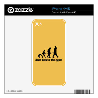 Don't believe the hype! skins for iPhone 4S