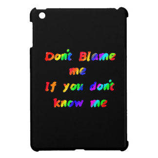 Don't blame me cover for the iPad mini
