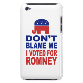 Don t Blame Me I Voted For Romney Barely There iPod Cases