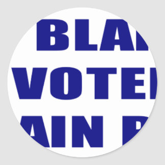 Don;t Blame Me I Voted McCain Palin Classic Round Sticker