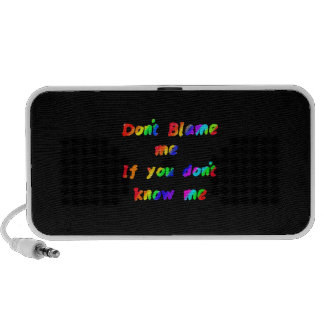 Don't blame me mini speaker