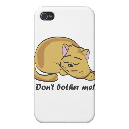 Don't bother me! iPhone 4/4S cover