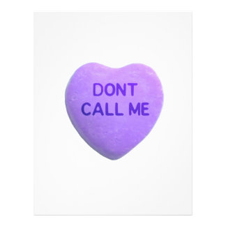 Don t Call Me Purple Candy Heart Flyers