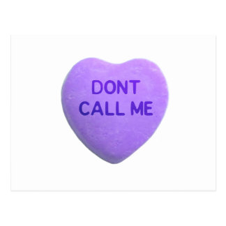Don t Call Me Purple Candy Heart Post Card