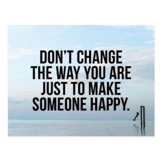 Don't Change Quote Postcard