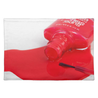Don't Cry Over Spilt Nail Polish Cloth Placemat