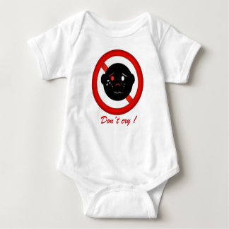 Don´t cry, sees happy, text in English Baby Bodysuit