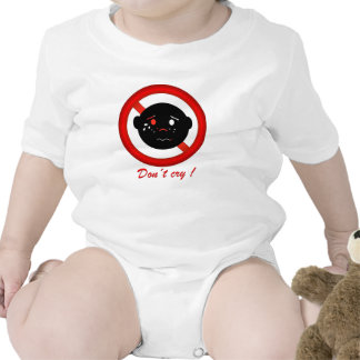 Don´t cry sees happy text in English Tee Shirts