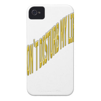 Don`t Disturb my life with coloring yellow iPhone 4 Covers