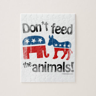 Don t Feed the Animals Party Politics Jigsaw Puzzles