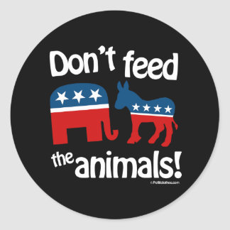 Don t Feed the Animals Round Stickers