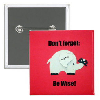 Don t forget Be Wise Pinback Button