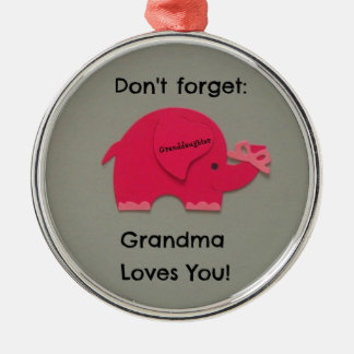 Don t forget Grandma Loves You Granddaughter Ornament
