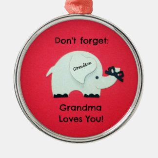 Don t forget Grandma Loves You Grandson Ornament
