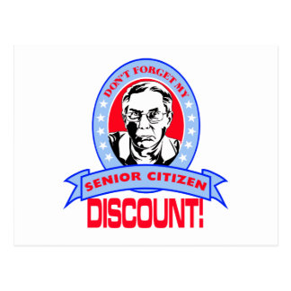 Don't Forget My Senior Citizen Discount Gift Items Postcard