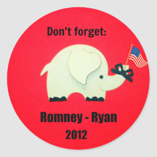 Don t forget Romney - Ryan 2012 Stickers