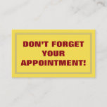 [ Thumbnail: Don'T Forget Your Appointment! Card ]
