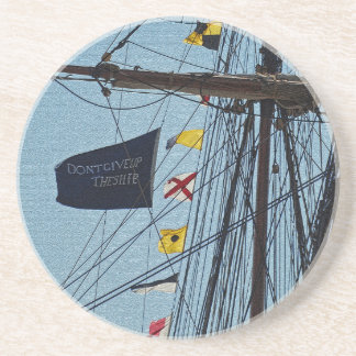 Don t Give Up The Ship Flag Coaster