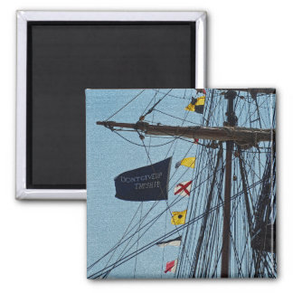 Don t Give Up The Ship Flag Magnet