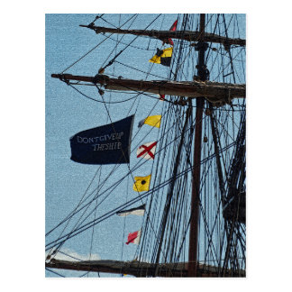Don t Give Up The Ship Flag Postcard