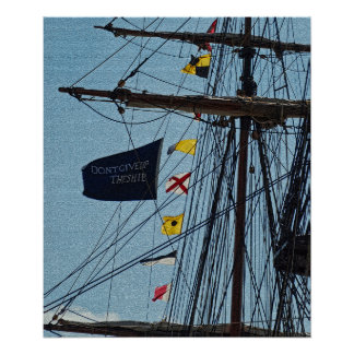Don t Give Up The Ship Flag Poster Print
