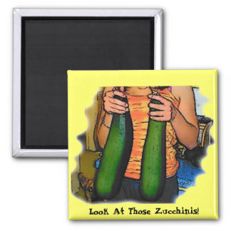 """Don't Hate My """"Double Z"""" Zucchinis! Refrigerator Magnets"""